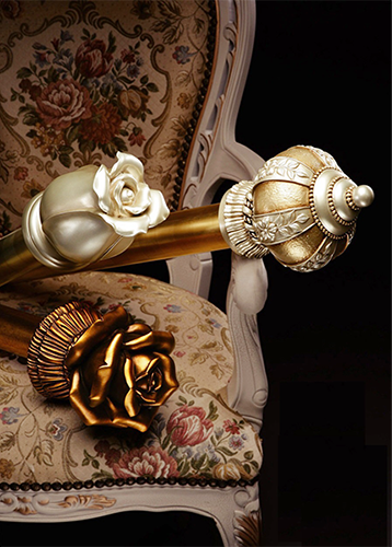 METALLIC WRAPPED CURTAIN POLE-DESIGNER